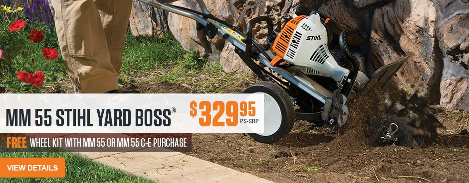 Free Wheel Kit with purchase of Yardboss!